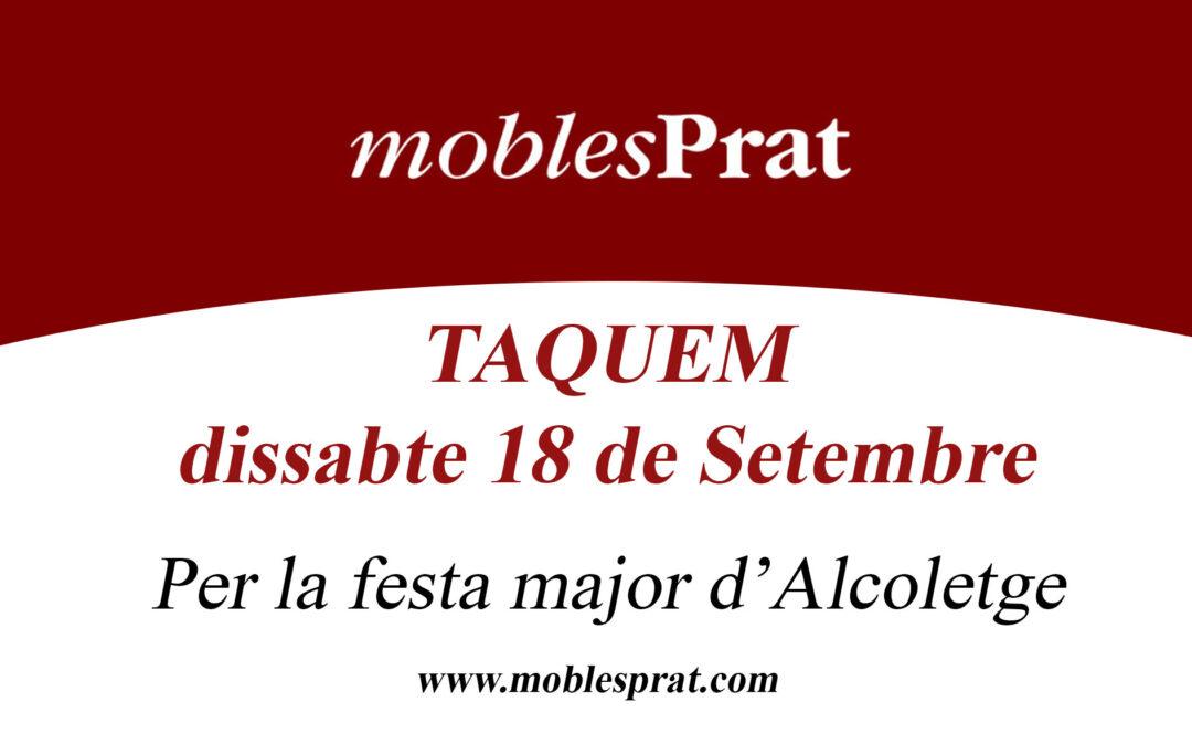 FESTA MAJOR D'ALCOLETGE – TANQUEM DISSABTE 18